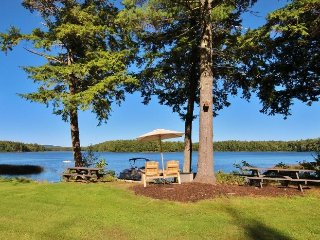 Spacious lake house with dock and sandy beach - Rockland vacation rentals