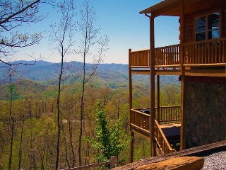 Above the Trees - Mountain Top Cabin with Amazing View, Pool Table, and Wi-Fi - Bryson City vacation rentals