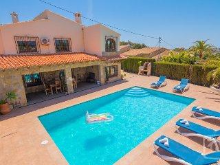3 bedroom Villa in Benissa, Costa Blanca, Benissa Costa, Spain : ref 2246629 - La Llobella vacation rentals