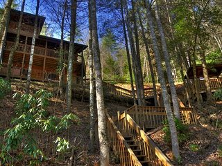 Above the River- 2BR/2BA- CABIN WITH TOCCOA RIVER ACCESS, SLEEPS 6, DECK ACCESS - Suches vacation rentals