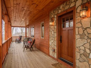 3BR Timber Style Cabin, Hot Tub, Foosball, Pool Table, Leather Furniture - Zionville vacation rentals
