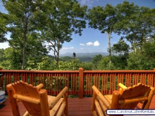 3BR NC Cabin with Forever Views, Beautiful Outdoor Fireplace and Flagstone - Valle Crucis vacation rentals