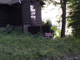 Glaser's Glenn Log Cabin Resort Home (Direct White Lake View)-Cabin #1/2 bedroom - Whitehall vacation rentals