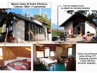 Grande maison EMBRUN, 7 pièces: ski, lac, soleil ! - Embrun vacation rentals