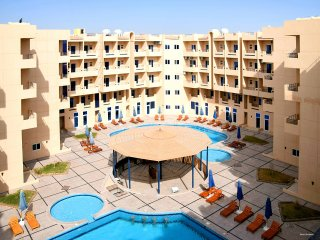 Modern Top Floor Studio with Balcony and Pool Views - Free WIFI - Hurghada vacation rentals