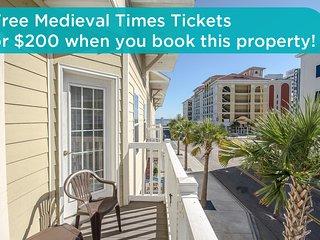 Beautiful, large condo, new kitchen, walk to beach, walk to Family Kingdom! - Myrtle Beach vacation rentals
