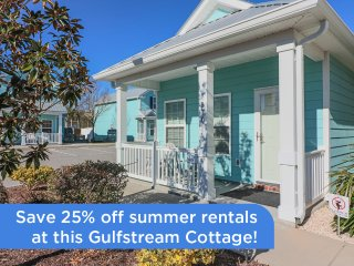 Charming 2 Bedroom Gulfstream Cottage, Short Walk to the Beach - Myrtle Beach vacation rentals