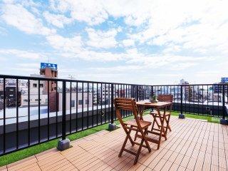 NEW!Central Tokyo!Huge roof balcony!1min walk sta! - Setagaya vacation rentals