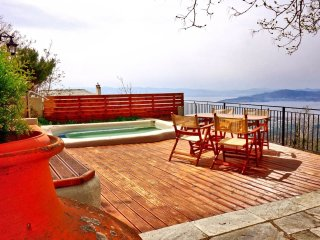 Traditional stone house with outdoor jacuzzi and amazing view. - Agios Georgios Nilias vacation rentals