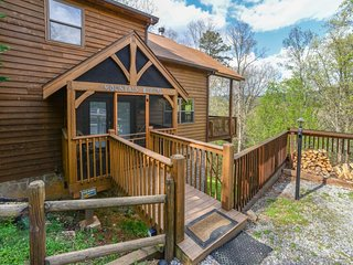 Dog-friendly mountain view cabin w/ pool table & private hot tub - Sevierville vacation rentals