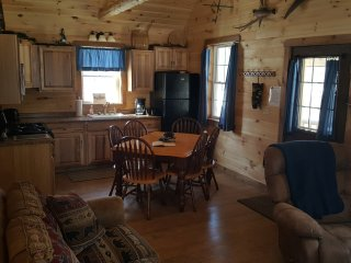 The Angler Cabin offers rustic elegance in Northern Maine Woods - Lee vacation rentals