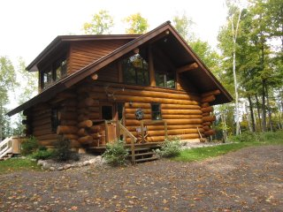 Solar Powered Authentic Log Cabin on Quiet Lake with 120 Acres Private Forest - Minocqua vacation rentals