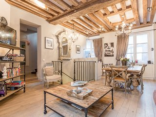 Marais three-level family apartment, featured on HouseHunters International - Paris vacation rentals