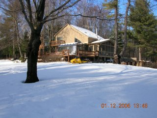 Cabin set on 30 private acres with amazing view. - Guilford vacation rentals