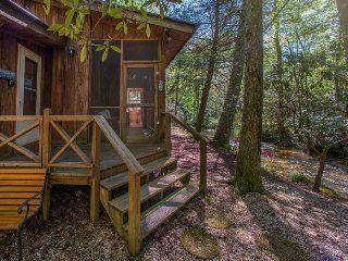 Charming creekside cabin w/ deck, screened porch & firepit - great for families! - East Ellijay vacation rentals