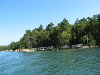 Private waterfront home and cabins with trails, dock, kayaks - South Bristol vacation rentals