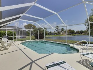 Waterside home w/ private covered pool & patio - golf courses nearby! - Fort Myers vacation rentals