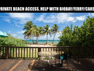 Beach Front House, Direct beach Access up to 16 pp. Cars, Biobay, Ferry help - Isla de Vieques vacation rentals