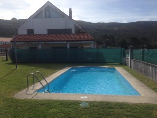 20 min walk to beach,  quiet area,  huge secluded terrace, pool, 20 min walk - Carnota vacation rentals