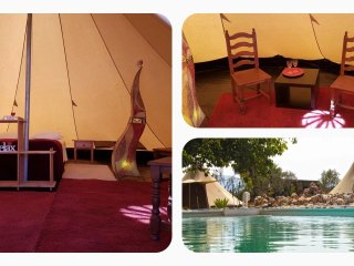 Tipi Ruby, max 4 pers., 3 beds, 1 camp bed, with shared bathroom - Cartama vacation rentals