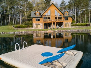 Spacious Retreat with Private Swimming/Fishing Pond and Sand Volleyball Court - Wisconsin Dells vacation rentals