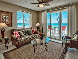 Three Bedroom, Three Bath Gulf front Condo! Balcony! Views! Sleeps Ten - Miramar Beach vacation rentals