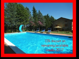 15% DISCOUNT ON REMAINING WEEKS 2017.  Farmhouse sleep 11 -17. Pool & Games Room - Anghiari vacation rentals