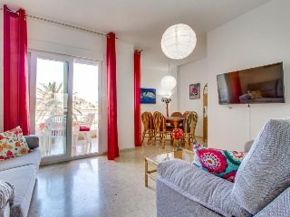 Sunny, colorful condo w/shared pool, golf course access - walk to the beach! - Javea vacation rentals