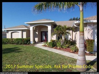 Paradiso - Cape Coral 3b/2ba Offwater Home, Electric Heated Pool, Nicely - Cape Coral vacation rentals