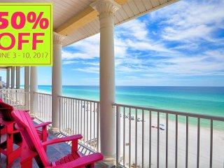50% OFF JUNE 3-10, 2017 BEACH FRONT W/ ELEVATOR NEAR ENTERTAINMENT & MORE! - Miramar Beach vacation rentals