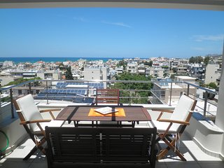 Spacious 4th floor town apartment with sea view - Parigoría vacation rentals