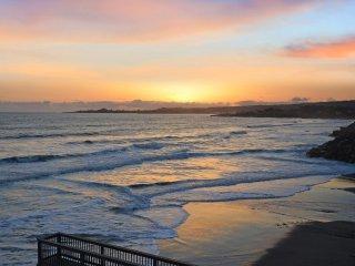 Villa Vista: Lower-Oceanfront rental with amazing views of surf & city lights - Santa Cruz vacation rentals