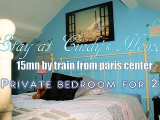 Private bedroom in Cindy's home - 15mn away from Paris - Deuil-la-Barre vacation rentals