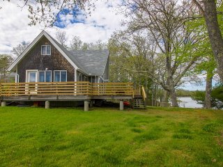 Remodeled waterfront home with a wrap-around deck, water views & beach access! - Waldoboro vacation rentals
