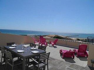 2 pièces 4 couchages avec superbe terrasse vue mer de 60m² - Sete vacation rentals