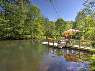 NEW! Lovely 3BR Barnardsville House w/Dock & Pond! - Barnardsville vacation rentals