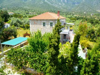 Luxury stone villa 200m from the beach - Poulithra vacation rentals