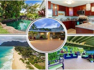 Luxurious Hawaiian Beach House~ Private Pool~Ocean View~ Steps to the Beach~AC! - Waimanalo vacation rentals