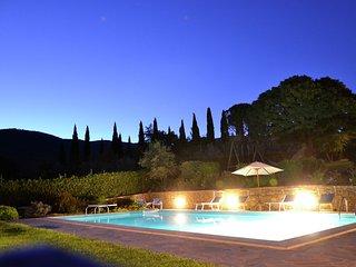 Villa Valecchie - Villa with large garden, lots of privacy and close to the center of Cortona - Pergo di Cortona vacation rentals