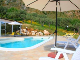 Santo Vento - Organic farmhouse with private pool and Spa with view of the Aeolian Islands - Acquedolci vacation rentals