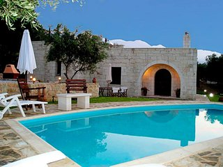 Traditional stone Villa with pool,garden and very nice view!! - Alikampos vacation rentals