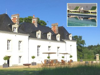 Private Loire Valley Chateau with 9 Bedrooms, Pool & Tennis Court - La Suze-sur-Sarthe vacation rentals