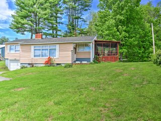 Charming 3BR Mayfield Home w/Private Dock, Screened Porch & Wifi - Just Across the Street From Lake Sacandaga! Near Hiking, Skiing & Family Activities - Mayfield vacation rentals
