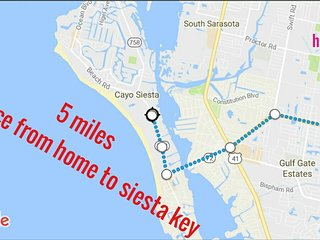 SMALL STUDIO APARTMENT PERFECT LOCATION CLOSE EVERYWHERE, SIESTA KEY (5min) - Gulf Gate Branch vacation rentals