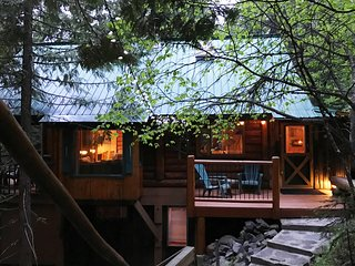 Beautiful and Private Mountainside Log Cabin - Hot Tub and 10 min from Nelson - Nelson vacation rentals