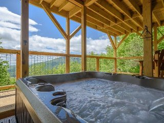 Beautiful Log Cabin with Hot Tub, Two King Beds, Great Views, Foosball Table - Seven Devils vacation rentals