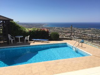Bright villa with pool and sea view - Peyia vacation rentals