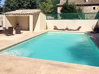 Stone house in Saint-Victor-la-Coste with a swimming pool! - Saint-Victor-la-Coste vacation rentals