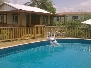The Pool House - Pool side cottage with ocean view-next door to Le Petit Chateau - Ocean City vacation rentals