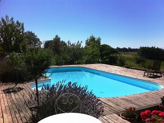 Studio in Pouydraguin, with pool access and terrace - Tasque vacation rentals